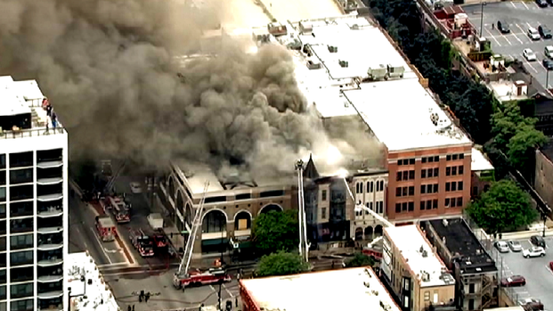 Second City Offices [where HLAA Chi-LP usually meets] Destroyed in Old Town Extra-Alarm Fire